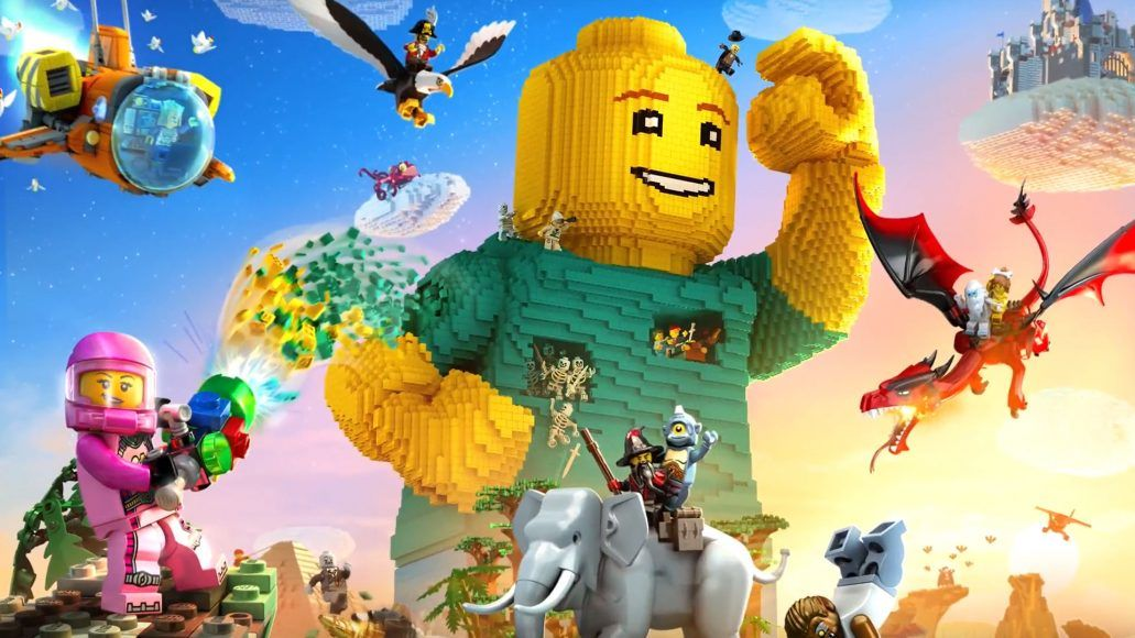 The new world-building video game, LEGO Worlds, which has been ...