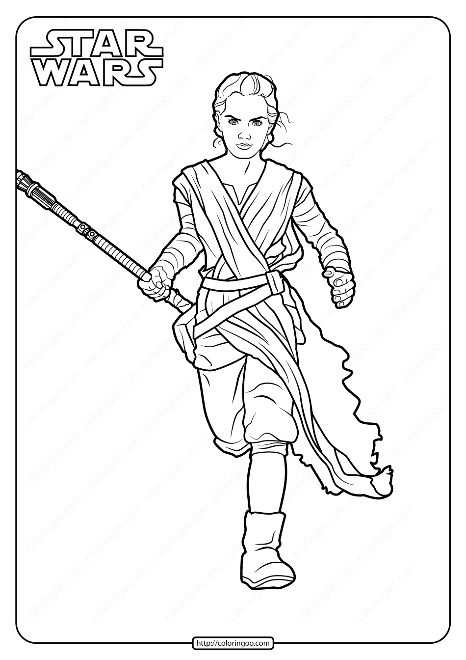 Star Wars Rey Printable Coloring Pages Book In 2020 Rey Star Wars Coloring Pages Star Wars Drawings