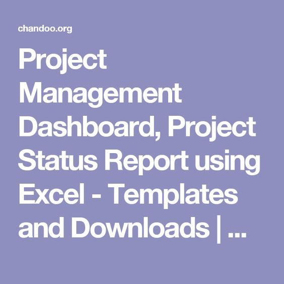Project Management Dashboard, Project Status Report using Excel - project status report excel