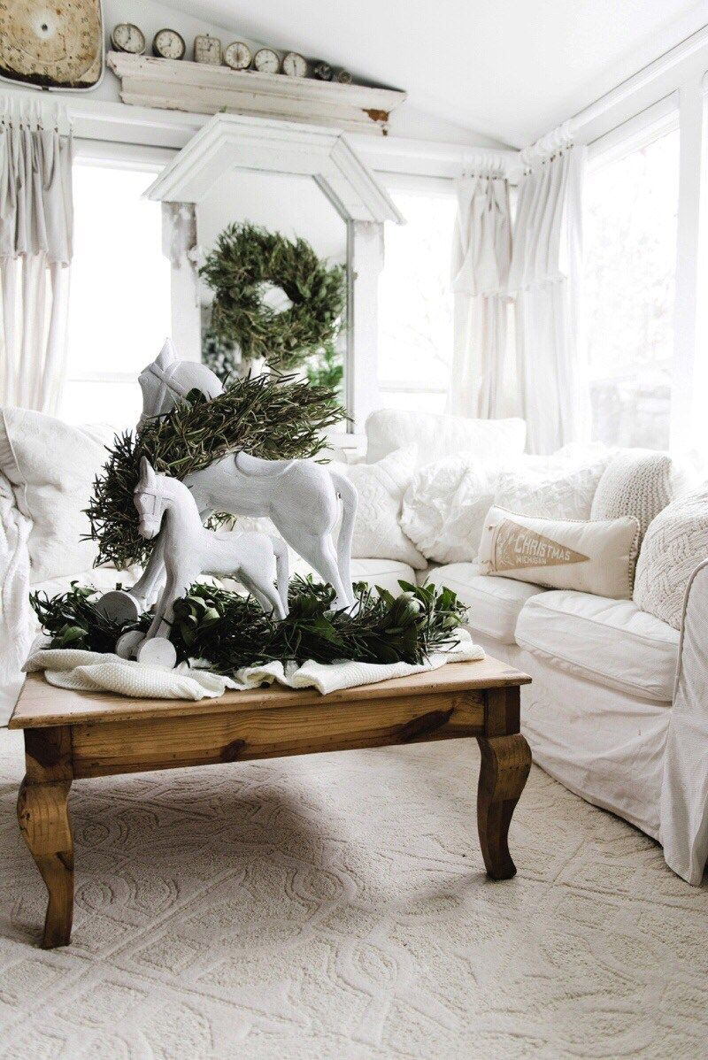 Chalk Paint Christmas Decor Makeover | Rocking horses, Farmhouse ...