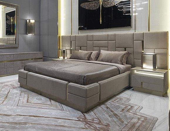 Nella Vetrina Visionnaire IPE Cavalli Beloved Beige Bed In Upholstered  Leather