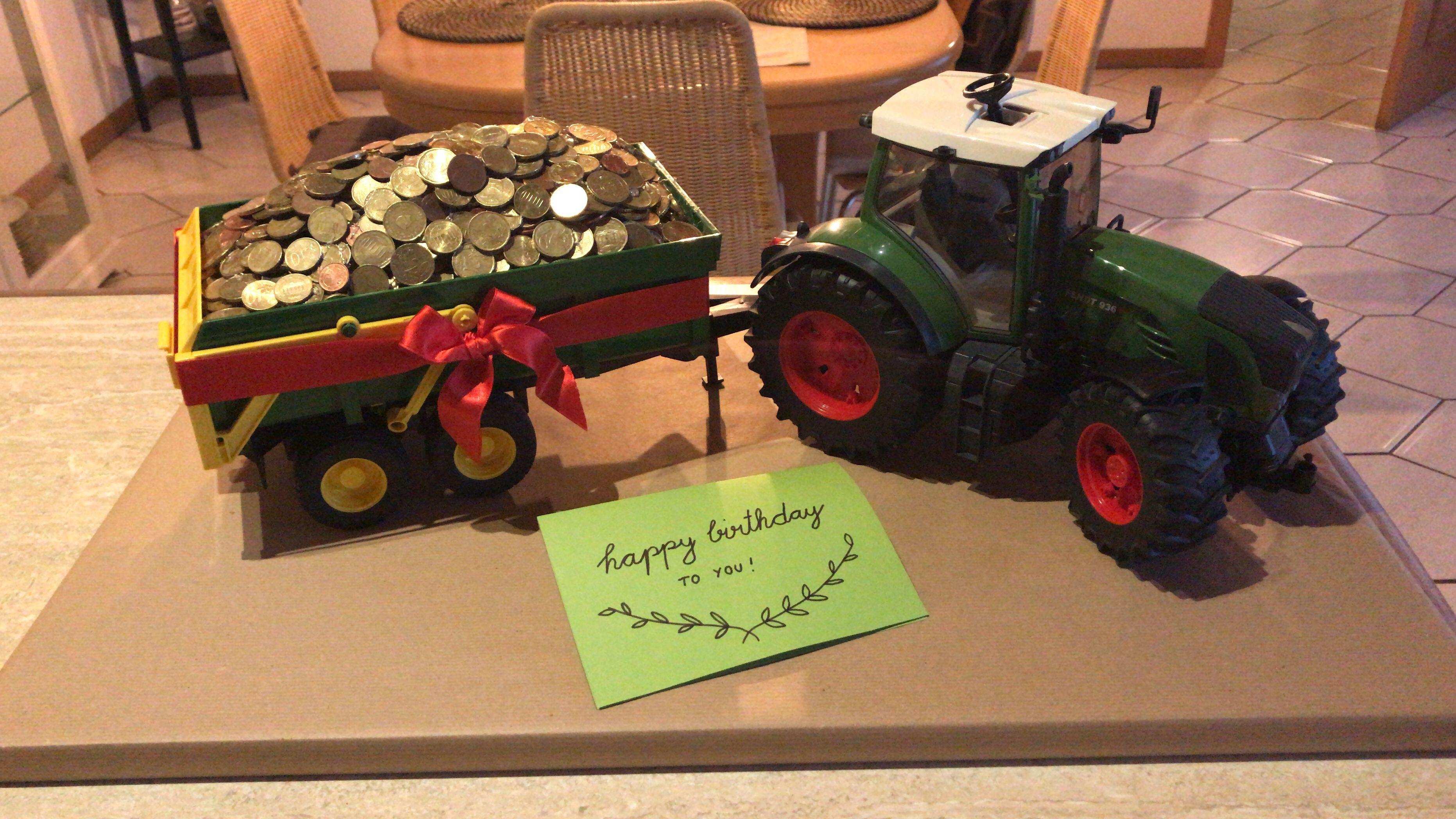 Geschenk 25 Geburtstag Geldgeschenk Trecker Bauer Fendt Traktor