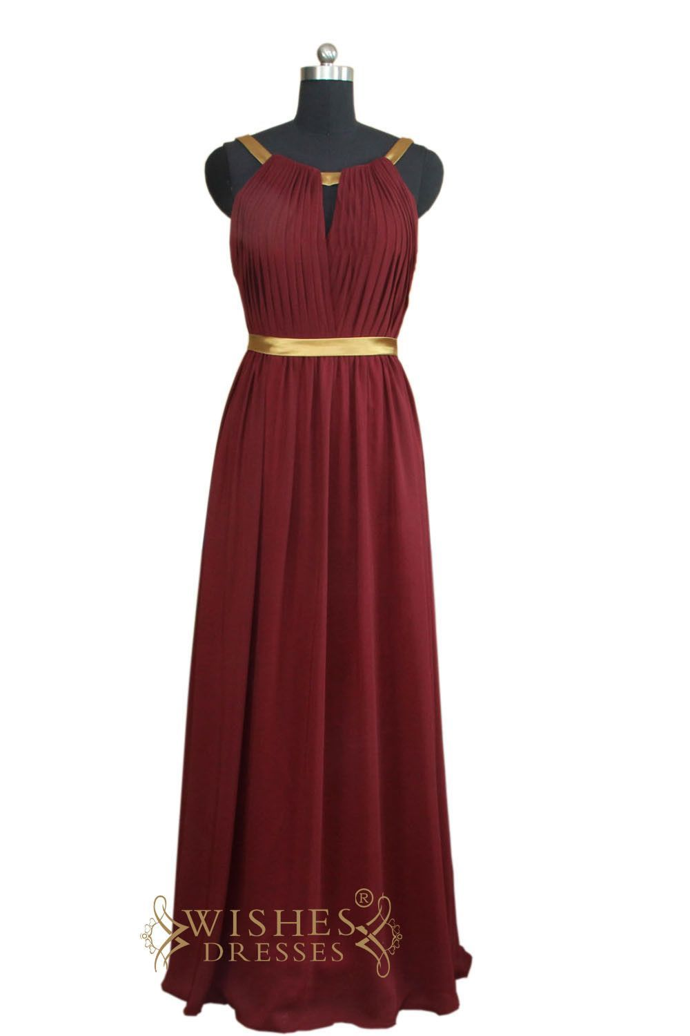 Affordable aline slim long bridesmaid dress formal dress am