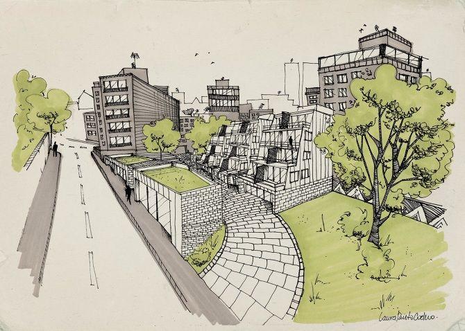 Laura Pinto Coelho - Vila Pindura Saia - Belo Horizonte-  #croqui #ilutração #drawing #illustration #architecture