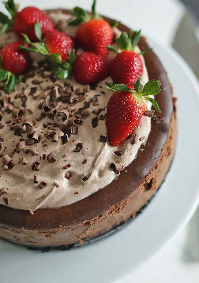 Chocolate Cheesecake Recipe With Fresh Strawberries Recipe Cheesecake Recipes Fresh Strawberry Recipes Chocolate Cheesecake Recipes