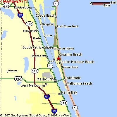 Map Of Florida Melbourne.Satellite Beach Map Satellite Beach Satellite Beach Satellite