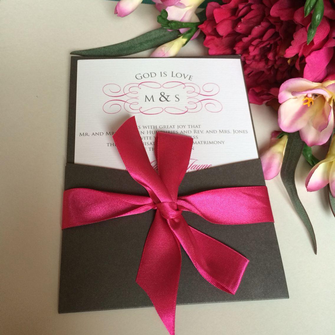God is love Christian wedding invitation | Wedding Invitations by ...
