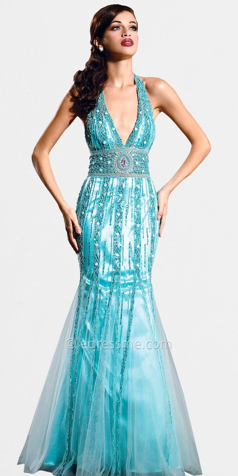 Light blue glam jewel prom dress by nika at edressme my style