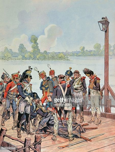Napoleonic Wars War Of The Fifth Coalition Battle Of Aspernessling The Fatal Injury Of General Jean Lannes On May 22 1809 Military Art Napoleonic Wars Napoleon