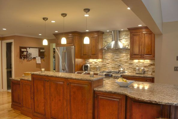 Traditional Kitchen Stainless Steel Appliances Table Style Seating At Counter Height Custom