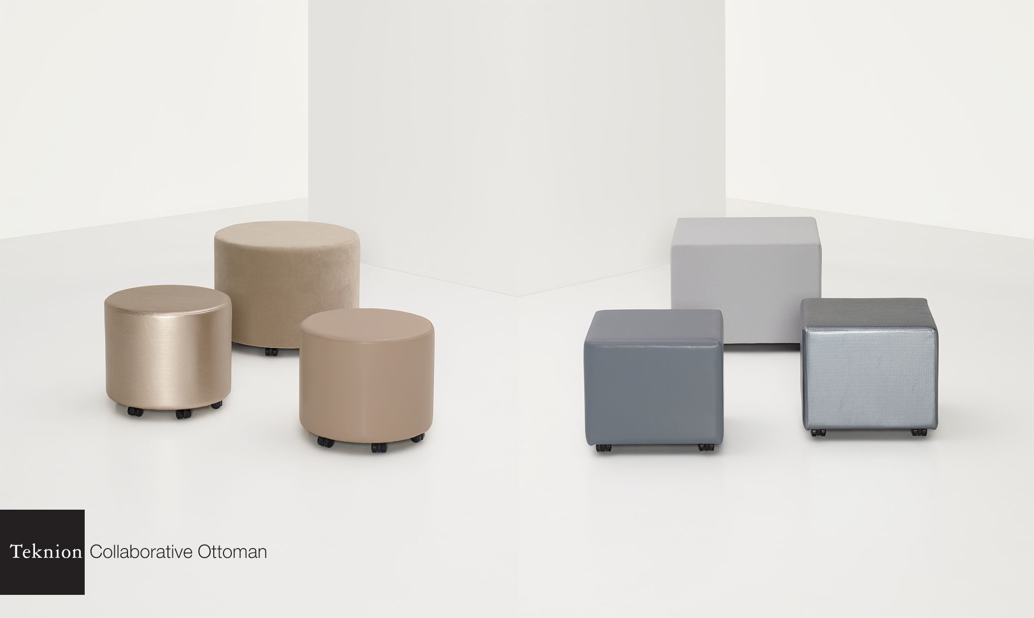 The Collaborative Ottoman Is Available In Round And Square Shapes 16 And 18 Inches High Diameter Width Sizes Seating Ottoman Office Seating Reception Seating