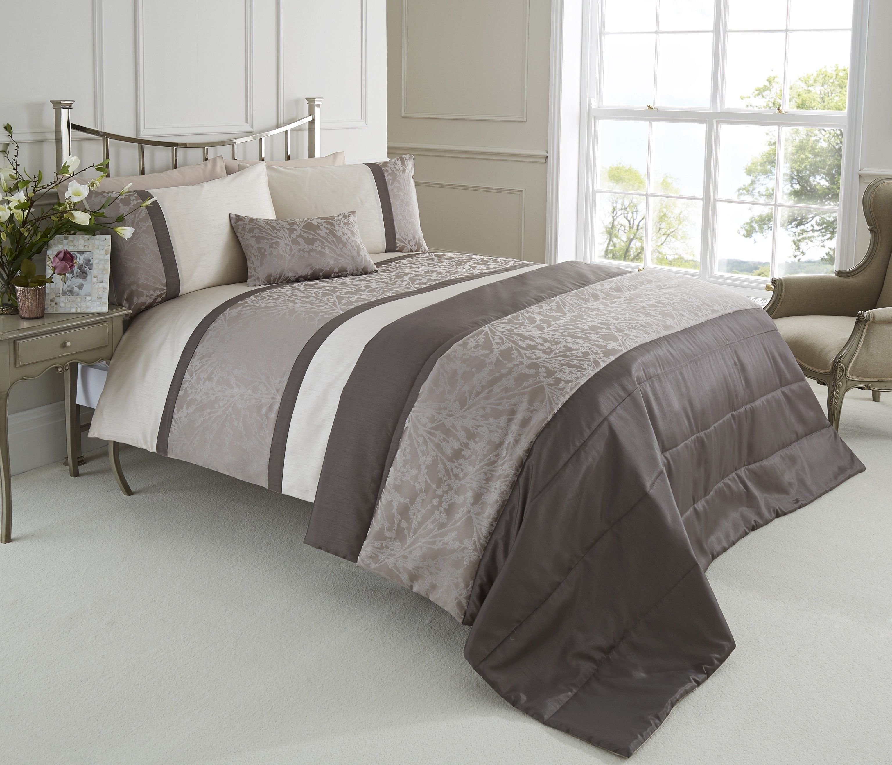 Life From Coloroll Woodland Jacquard Duvet Set Taupe Ponden Homes