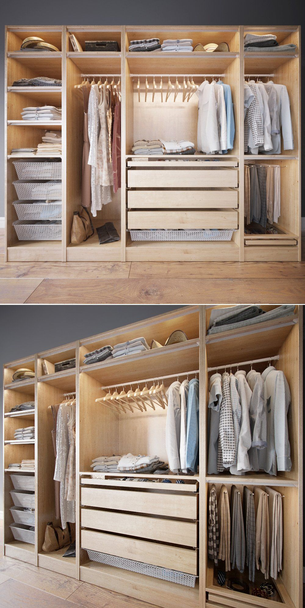 Wardrobe with Clothes part A | Diy closet storage, Fitted ...