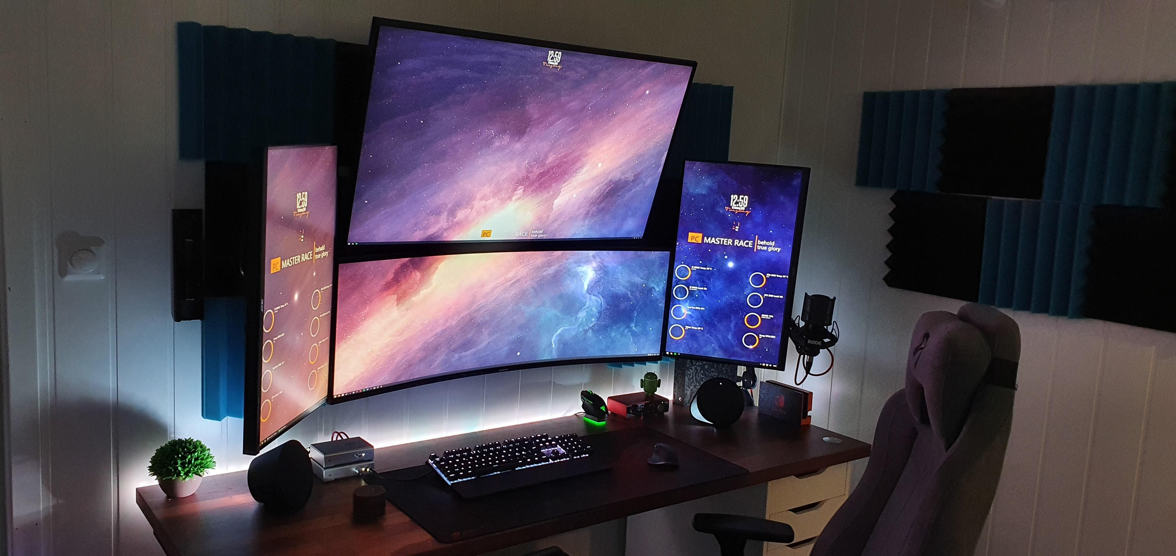 Updated my top screen in 2020 Computer setup