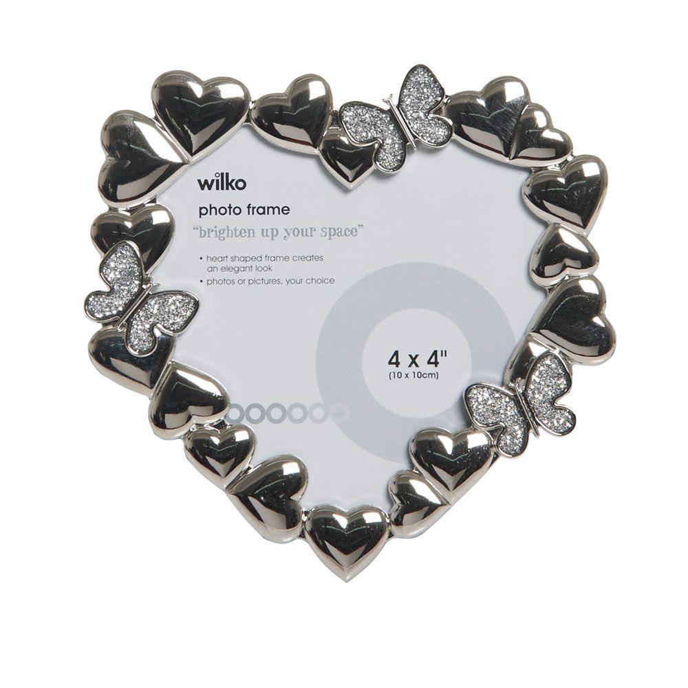Wilko Glitz Heart Shaped Photo Frame 4 x 4in | Wilko | Valentine\'s ...