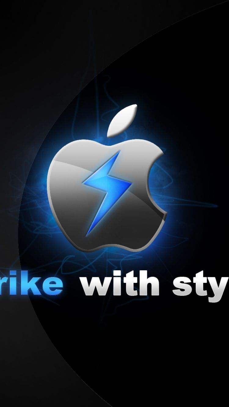 750x1334 wallpaper app storm, apple, mac, blue, black, gray, style