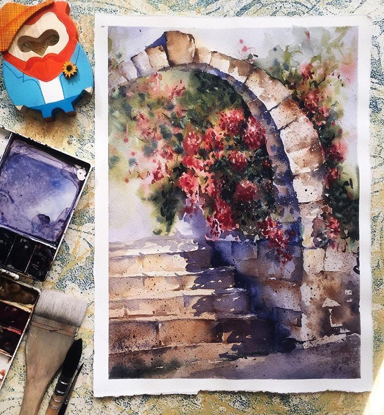 5 264 Likes 15 Comments Watercolor Illustrations Watercolor