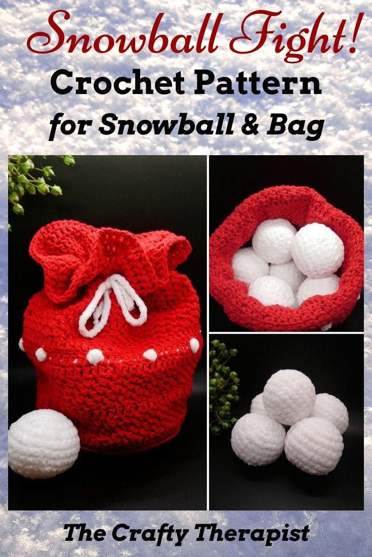 Snowball Fight in Bag Crochet Pattern