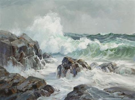 Artwork by Charles Vickery, On the Rocks, Made of oil on canvas