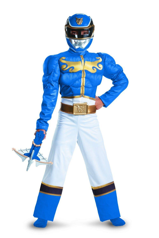 Amazon.com: Disguise Power Ranger Megaforce Blue Ranger Boy's ...