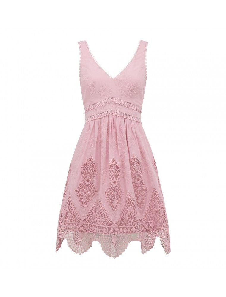 44a7c861ee3 Sunny Embroidered Sundress Pink - Womens Fashion
