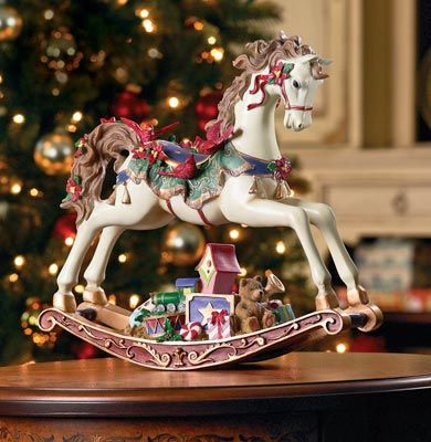 Musical Christmas Rocking Horse From Collections Etc Christmas Magic Christmas Christmas Decorations