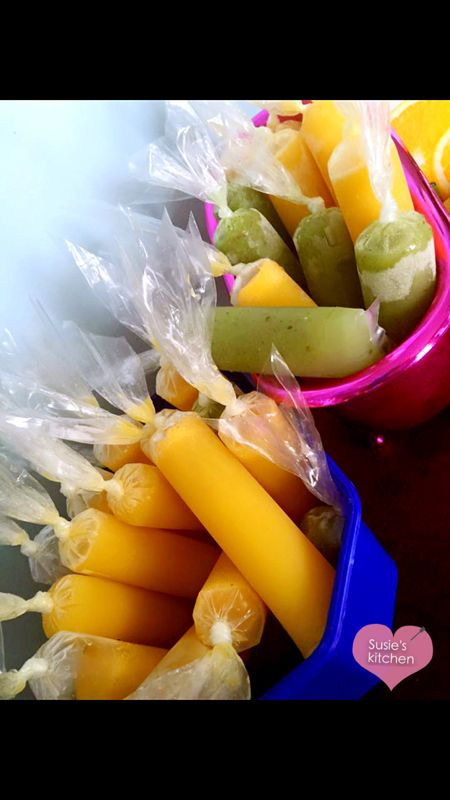 Fresh ice pop for hot weather