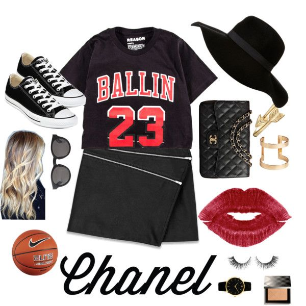 A fashion look from March 2015 featuring Yves Saint Laurent mini skirts, Converse sneakers and Chanel handbags. Browse and shop related looks.
