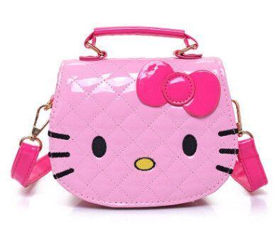 New Girls Cute Shoulder Bag Children Cartoon Hello Kitty Bowknot Handbag  Kids Tote Girls Shoulder Bag Mini Bag Wholesale c0db768d31a8b