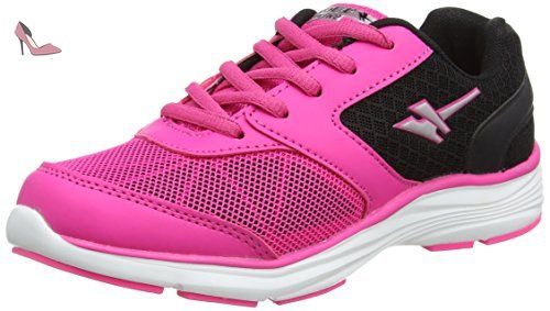 Gola Geno, Chaussures Multisport Outdoor Fille, Rose (Pink/Black/Silver), 37 EU (  4 UK  ) - Chaussures gola (*Partner-Link)