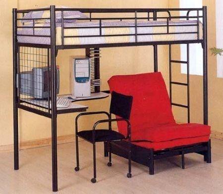 Coaster Furniture Black Metal Futon Bunk Bed 2209