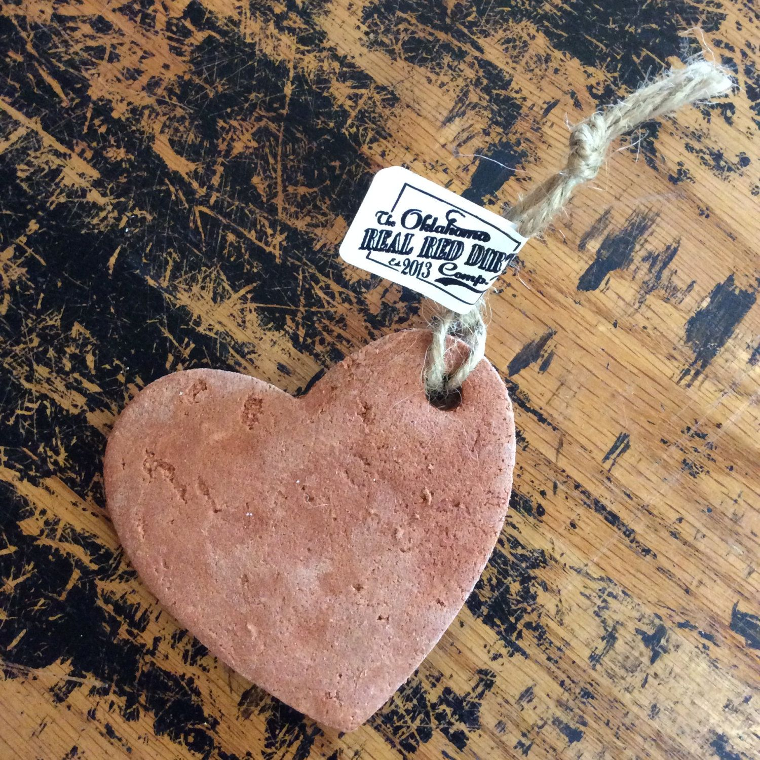 Heart Ornament Red Dirt by OklahomaRealRedDirt on Etsy