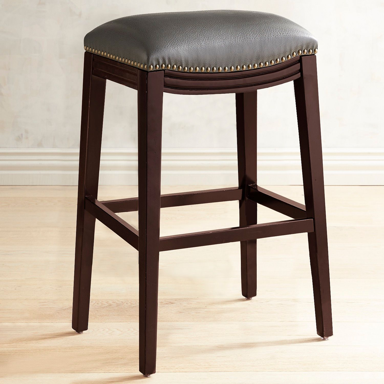 Halsted Pewter Backless Bar Stool   Backless bar stools ...