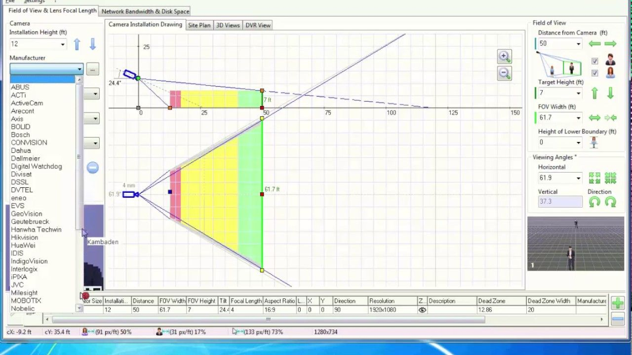 Ip Video System Design Tool Space Camera Tool Design Site Plan