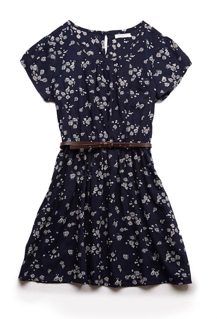 604ef7b08f38 Floral Print Pocket Dress (Kids)