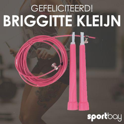 G E F E L I C I T E E R D Briggitte Kleijn Van Harte Gefeliciteerd Met Je Nieuwe Roze Speed Rope Maakjezelftrots Gefeliciteerd