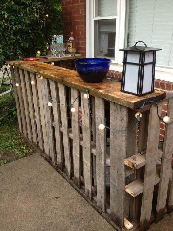 Comment Fabriquer Un Bar En Palette Pour Le Jardin ? | Bar