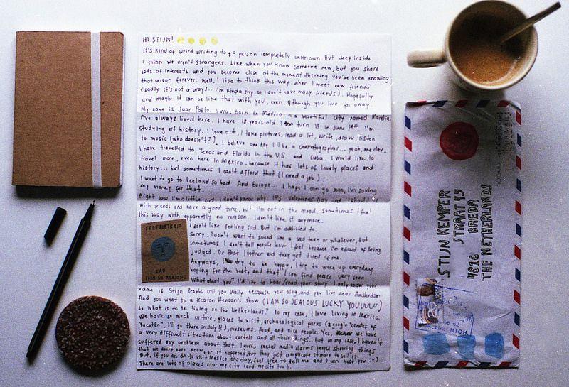 Letter from Juan Pablo