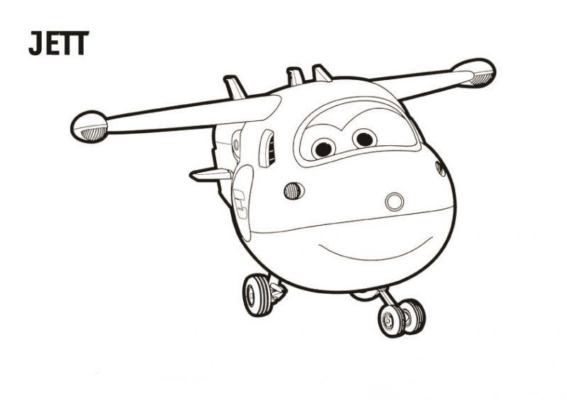 dibujo de jett de super wings  boyama sayfaları Çizimler