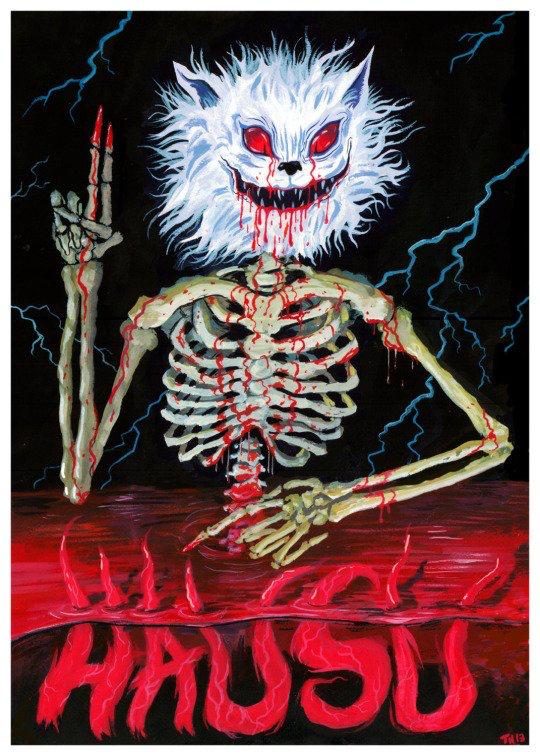 Poster for House (1977) Nobuhiko Obayashi Art by Trevor
