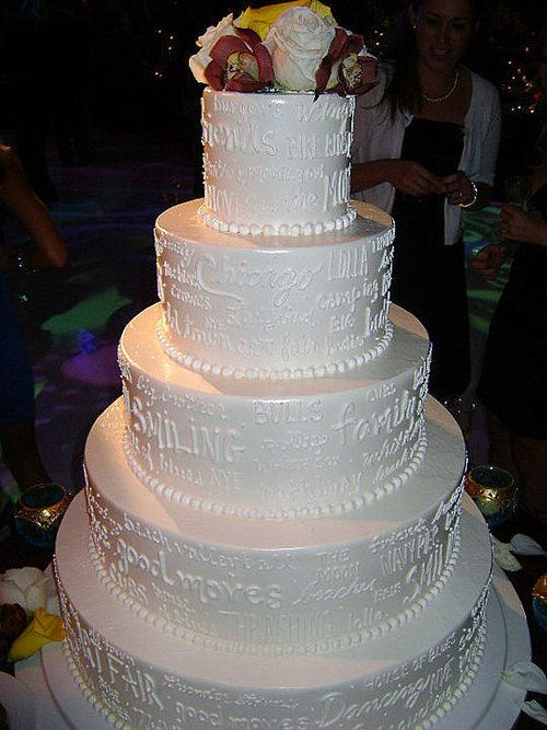 wedding cakes with writing wedding cake decorated with writing that says what the 26140