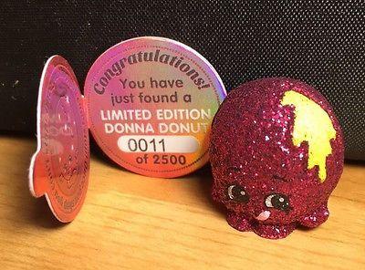 Shopkins Season 2 Limited Edition Donna Donut 11 2500 Mint NEW Very Rare 141