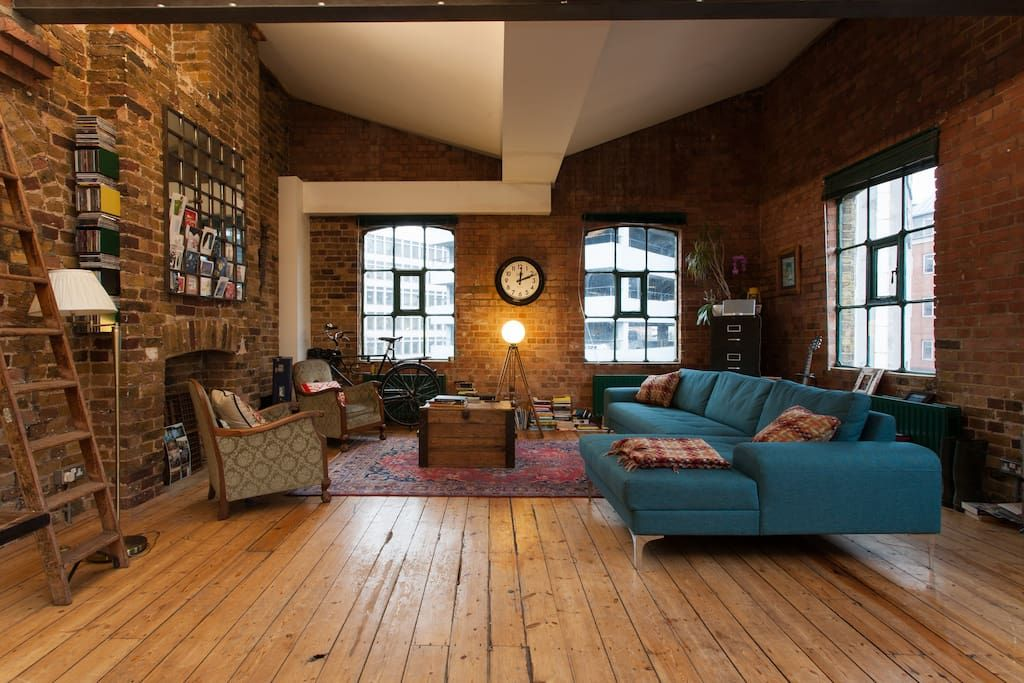 Check Out This Awesome Listing On Airbnb Shoreditch Warehouse Loft 1000sqf Lofts For Rent Warehouse Loft Converted Warehouse Apartment