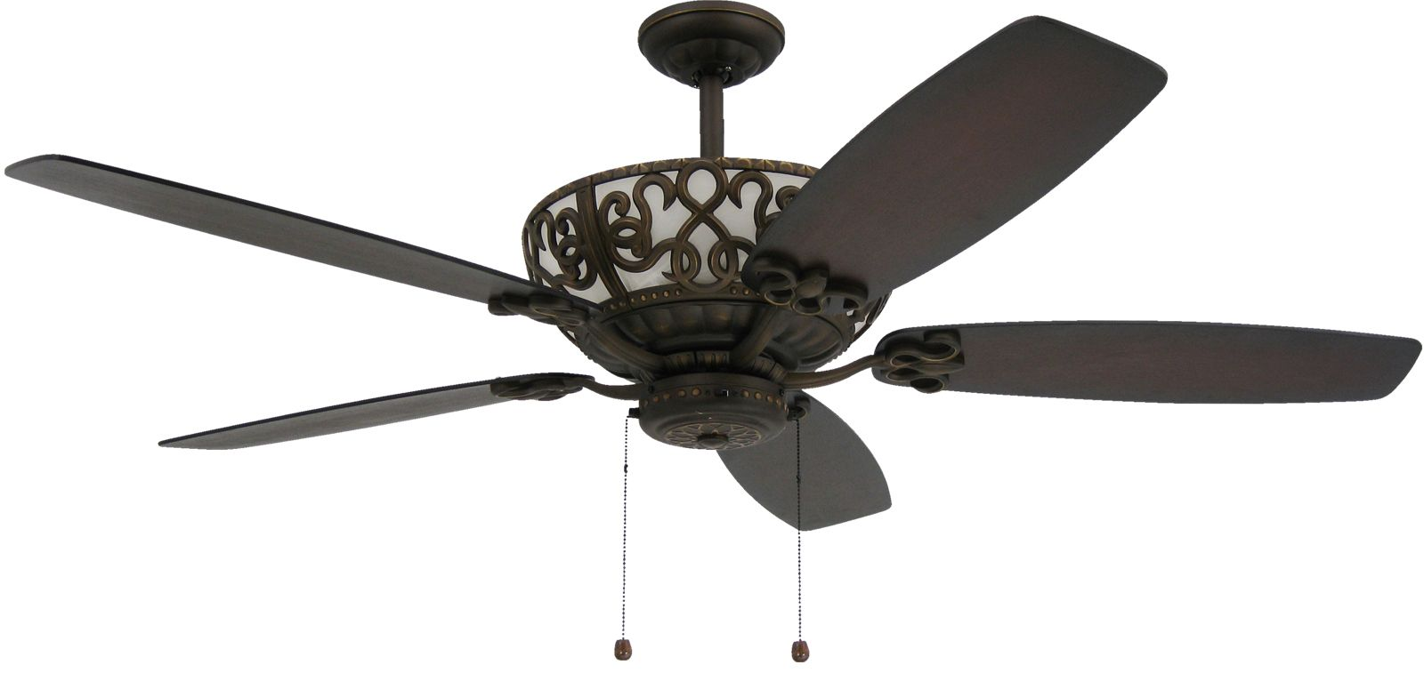 Troposair Excaliber 60 In Rubbed Bronze Ceiling Fan With Curved Edge Reversable Blades In Walnut Dark Walnut And Uplight Bronze Ceiling Fan Ceiling Fan Fan