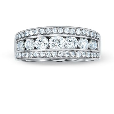 T W Diamond Channel Band In 14k White Gold Zales Want I Like