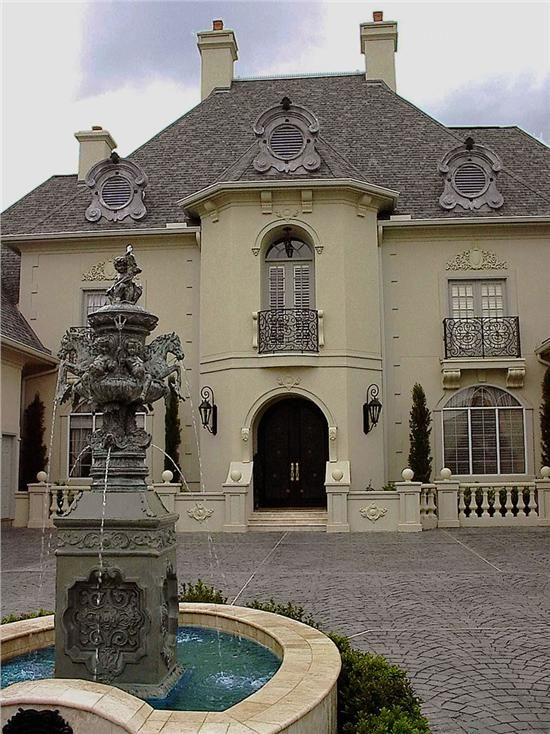 European House Plan 61 177 From Houseplans Com Luxury House Plans Stucco Homes French Provincial Home