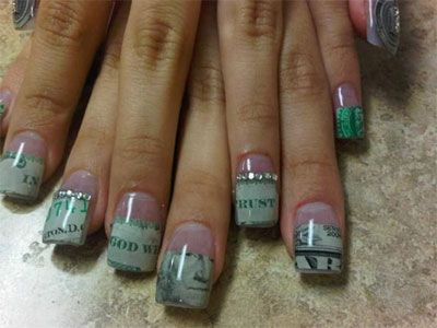Money nail art love this even prettier if you color it with a money nail art love this even prettier if you color it with a red prinsesfo Images