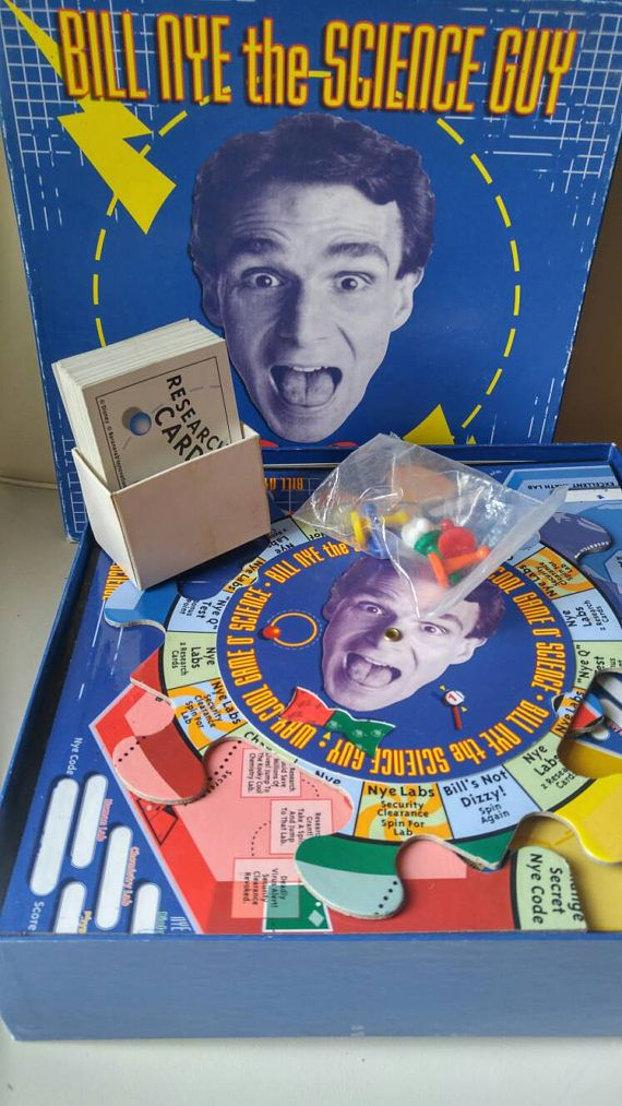 Bill Nye the Science Guy Way Cool Game O' Science / board