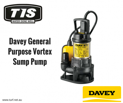 The Davey General Purpose Vortex Sump Pump can handle the dirtiest of jobs. Contact TIS for more information. www.turf.net.au
