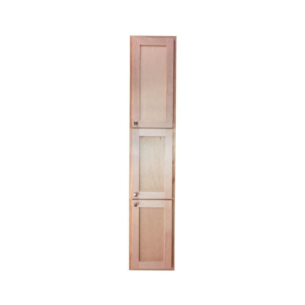 WG Wood Products Craftsman Recessed In The Wall Three Door Bathroom ...